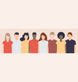 different young people together racial vector image