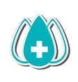 drop with medical cross icon vector image vector image