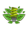 ecological save bulb with leaves vector image vector image