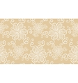 Elegant white flower seamless pattern on beige vector image vector image