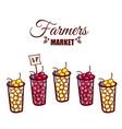 farmers market berries vector image vector image