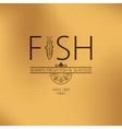 fish seafood background vector image vector image