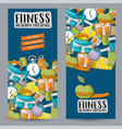fitness and healthy lifestyle vertical banner vector image vector image