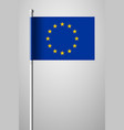 flag of european union national flag on flagpole vector image vector image