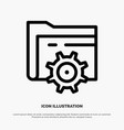 folder setting gear computing line icon vector image vector image