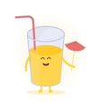 Funny cute juice drawn with a smile eyes and vector image vector image