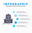 game boss legend master ceo infographics template vector image vector image