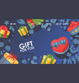 gift for you box with bow vector image vector image