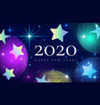 happy new year 2020 beautiful fairytale magical vector image vector image