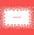 hearts red flat icons frame isolated on white vector image vector image