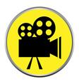 icon button the videocamera silhouette vector image