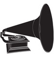 image of an old gramophone vector image