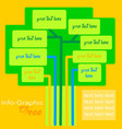 infographic tree template vector image vector image
