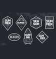 line art geometric summer emblems set vector image vector image