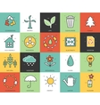 Line icons set of eco collection concept Modern vector image vector image