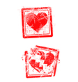 love concept grungy rubber stamp vector image vector image