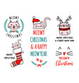 meowy christmas with cute cats set vector image vector image