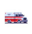 modern ambulance car with emergency sign medical vector image vector image