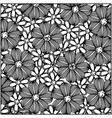 monochrome background with contour flowers set vector image
