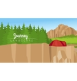 Mountain and forest landscape background vector image vector image