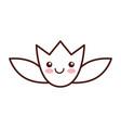 natural flower spa kawaii character vector image vector image