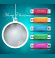 new year s ball - business infographic vector image