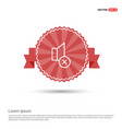 no speaker icon - red ribbon banner vector image