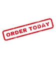 Order Today Rubber Stamp vector image vector image