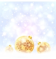 Ornate golden Christmas balls on snow vector image vector image