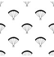parachutingextreme sport single icon in black vector image vector image