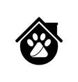 pet house logo template design and support icon vector image vector image