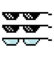pixel glasses set vector image vector image