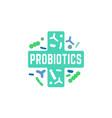 probiotic icon image vector image