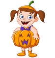 pumpkin kid vector image