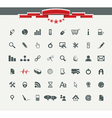Quality icon Set Service Medical Media Mail Mobile vector image vector image