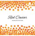 raw red caviar salted or fresh salmon fish eggs vector image vector image