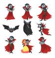 reepy count dracula set vampire cartoon vector image vector image