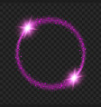 round purple glow light effect stars bursts with vector image