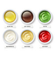 sauces olive oil mayonnaise vector image