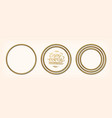 set golden circular frames vector image