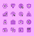 set icons bank vector image vector image