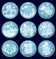 set of merry christmas and new year decorations vector image