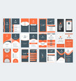 set of vertical double sided business card vector image vector image