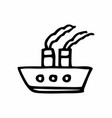 ship freehand vector image vector image
