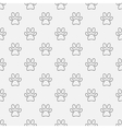 Simple dog paw pattern vector image vector image