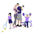 sport family do fitness concept healthlife vector image vector image