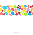 Spring background with leaves vector image vector image