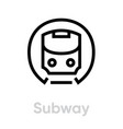 subway icon metro mass rapid transit public vector image