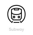 subway icon metro mass rapid transit public vector image vector image