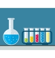 test tube flat icon vector image vector image